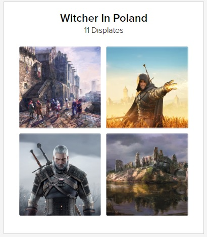 witcher posters printing on demand real locations from game
