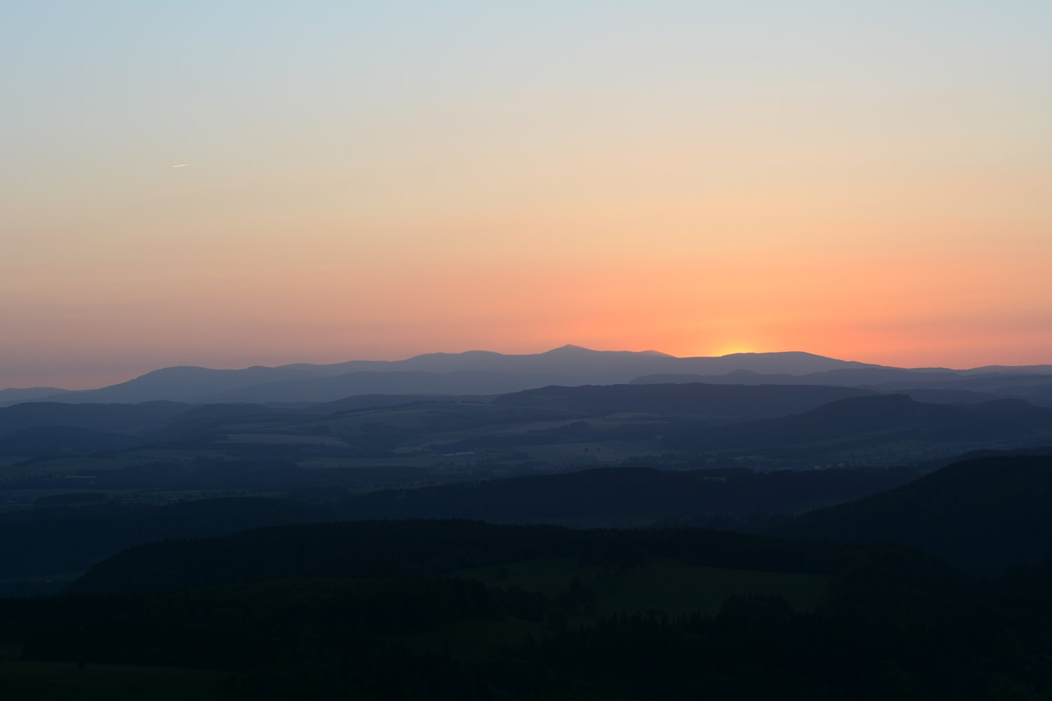 Góry Stołowe polish national parks mountains in poland near germany sunset over table mountains