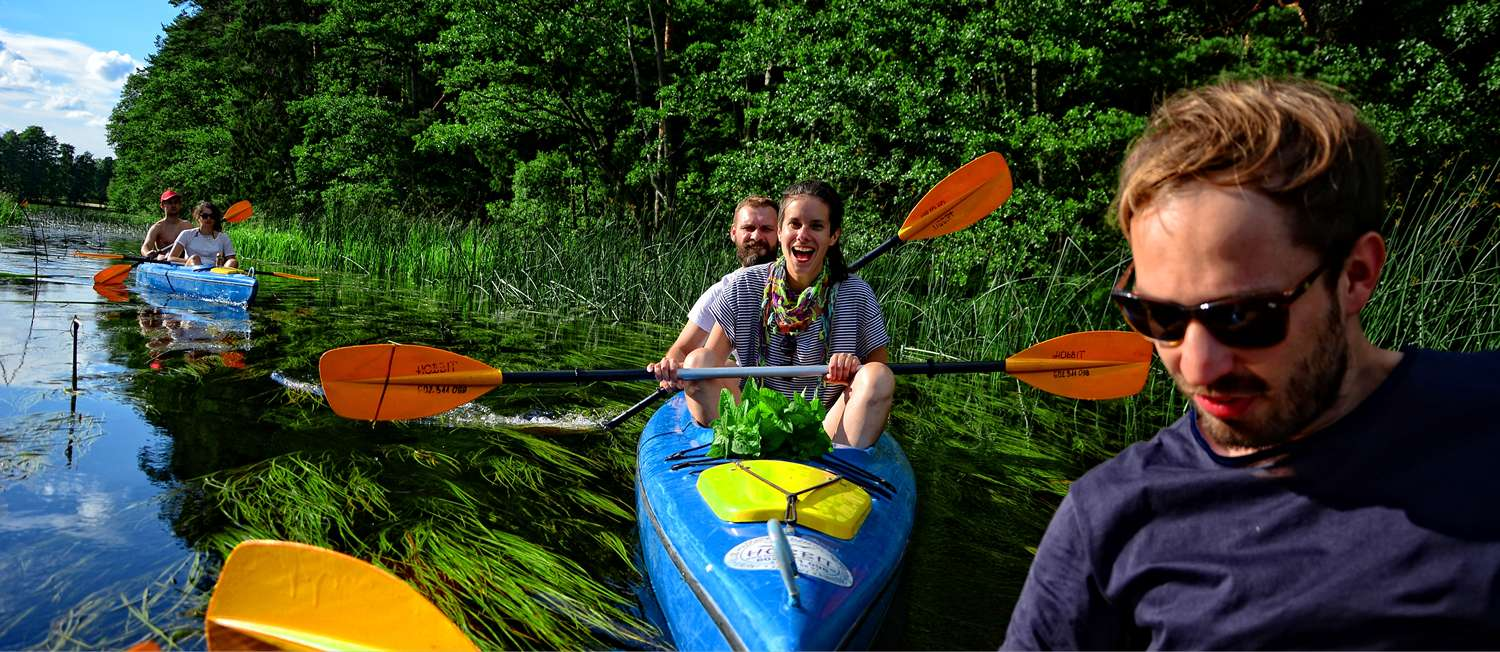 self-guided tour kayaking in Poland czarna hancza kayaks in warsaw
