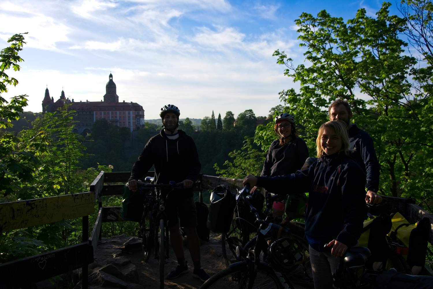 castle ksiaz by bike