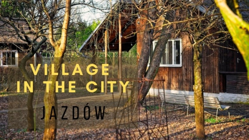 jazdow village in the city warsaw poland