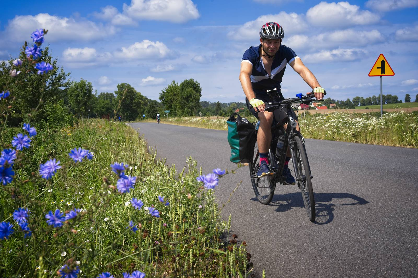 biking in mazury roads bike paths