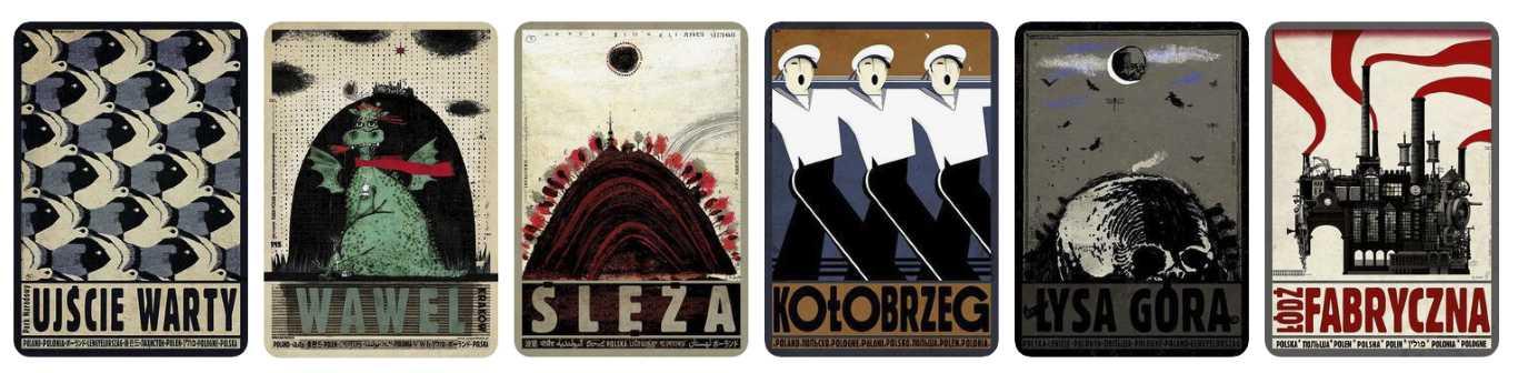 polish souvenirs poster from poland ryszard kaja